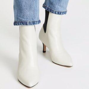 NEW JOIE Rali White Black Kitten Heel Ankle Boot